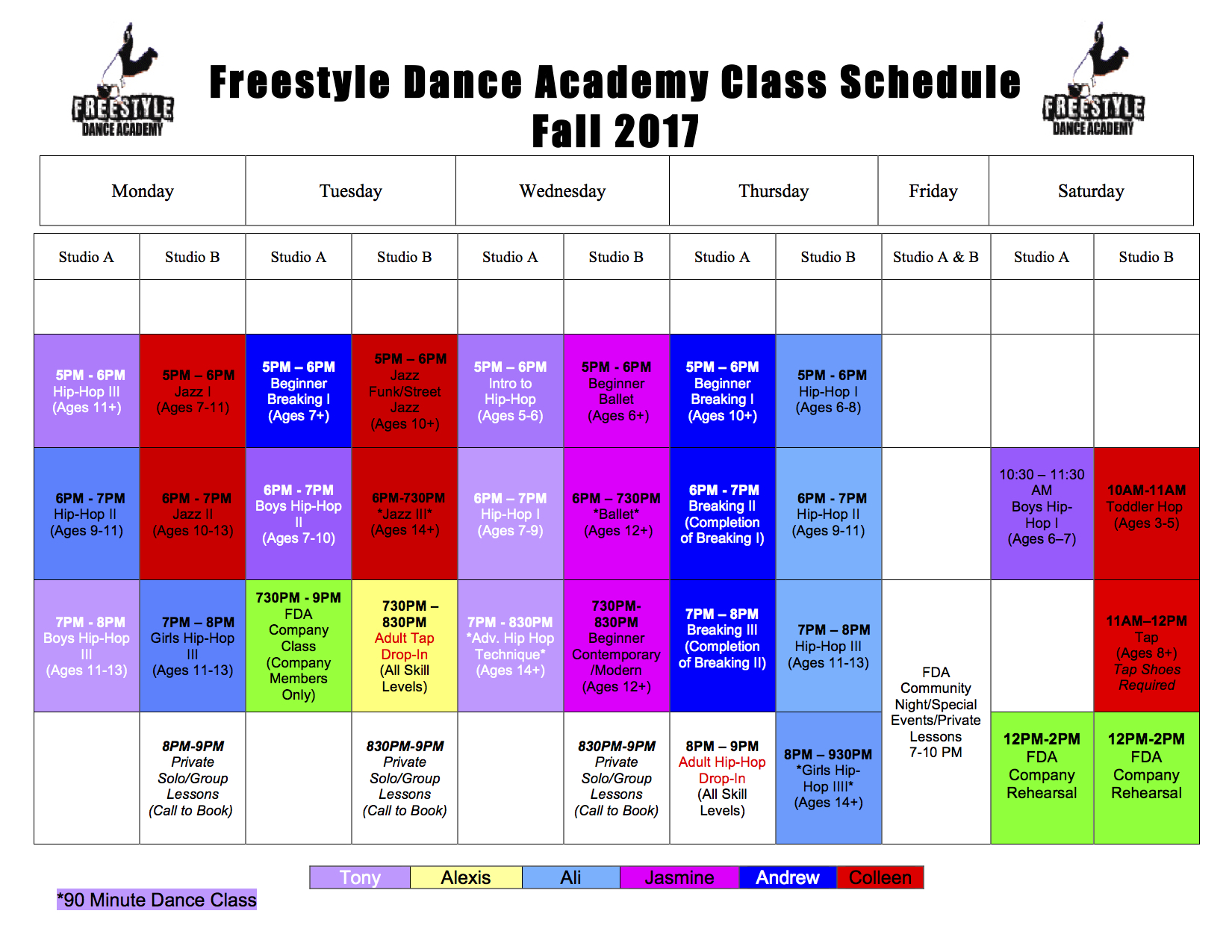 Fall 2017, dance, dance class, dance studio, dance lessons, dancer, Freestyle Dance Academy, hip-hop, breakdance, jazz, tap, ballet, modern, Best of Bucks, Warrington, Chalfont, Doylestown, Lansdale
