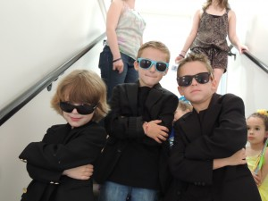 The little Men in Black ready to go!