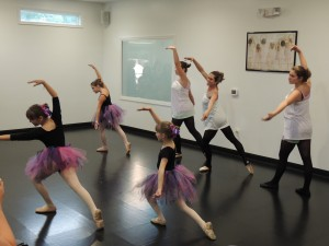 """Mrs. Kristen and her ballerinas performing """"Once Upon a December."""""""