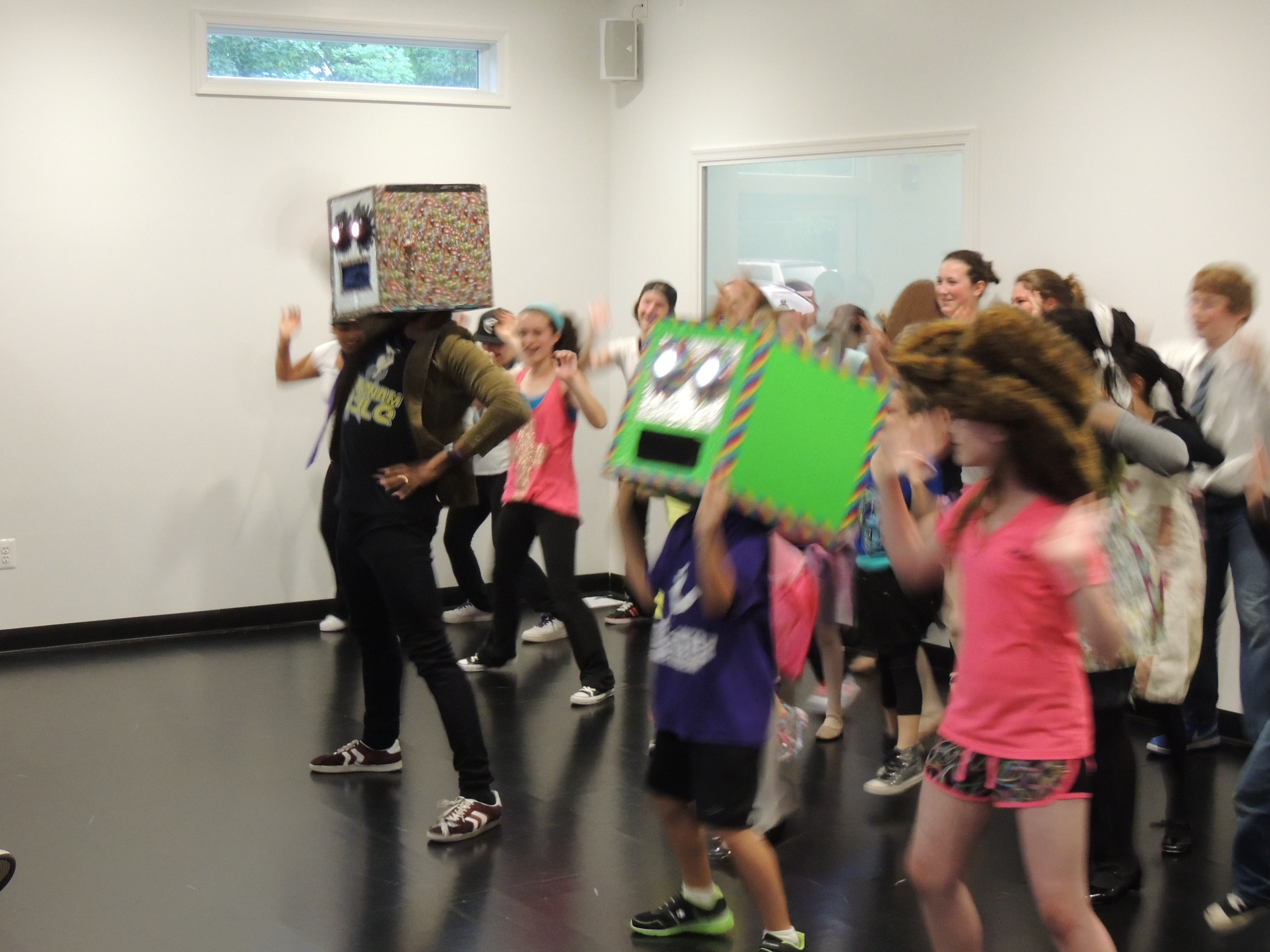 The Shuffle Bot Army at Freestyle Dance Academy