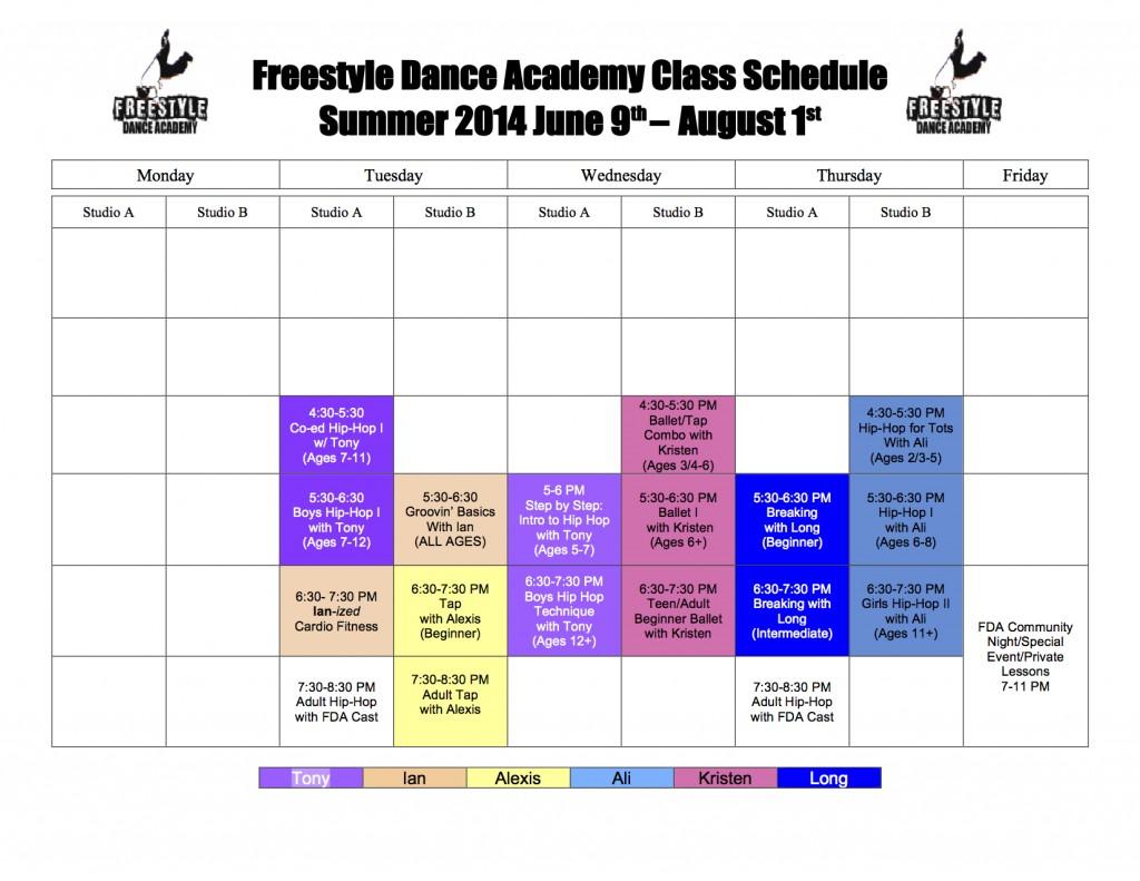 Freestyle Dance Academy 2014 Summer