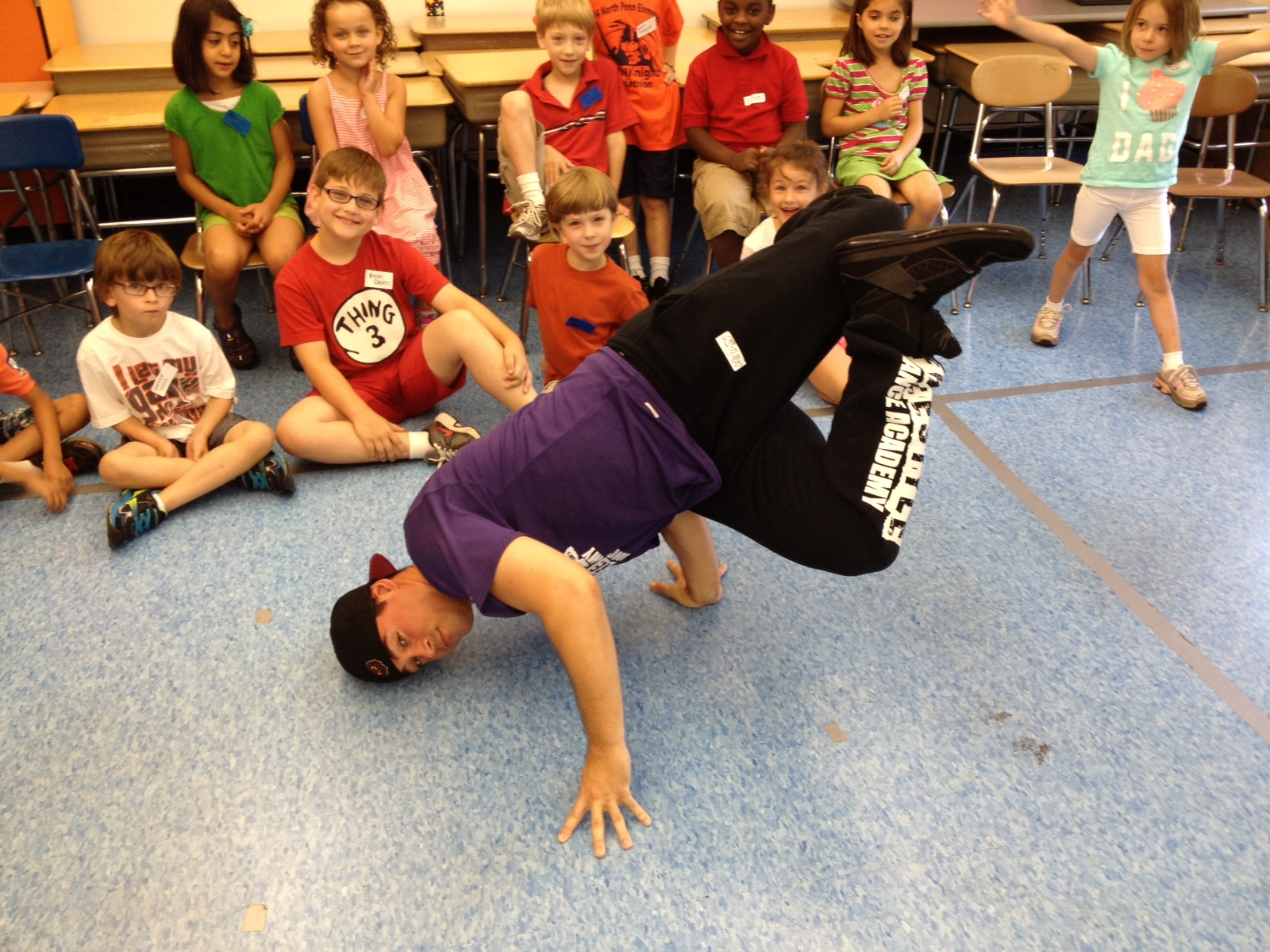 Mr. Tony at the Theatre & Kids Performing Arts Camp