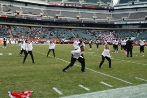 Freestyle Dance Academy performing the dougie at Lincoln Financial Field.