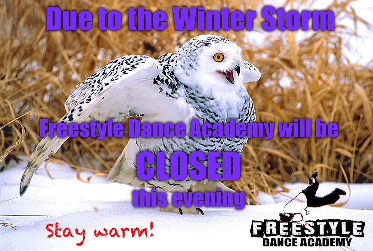 Winter Storm Thor- Freestyle Dance Academy - Dance Studio Closing - Warrington - Chalfont - Doylestown