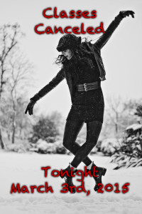 Classes Canceled on 3/3/15 at Freestyle Dance Academy