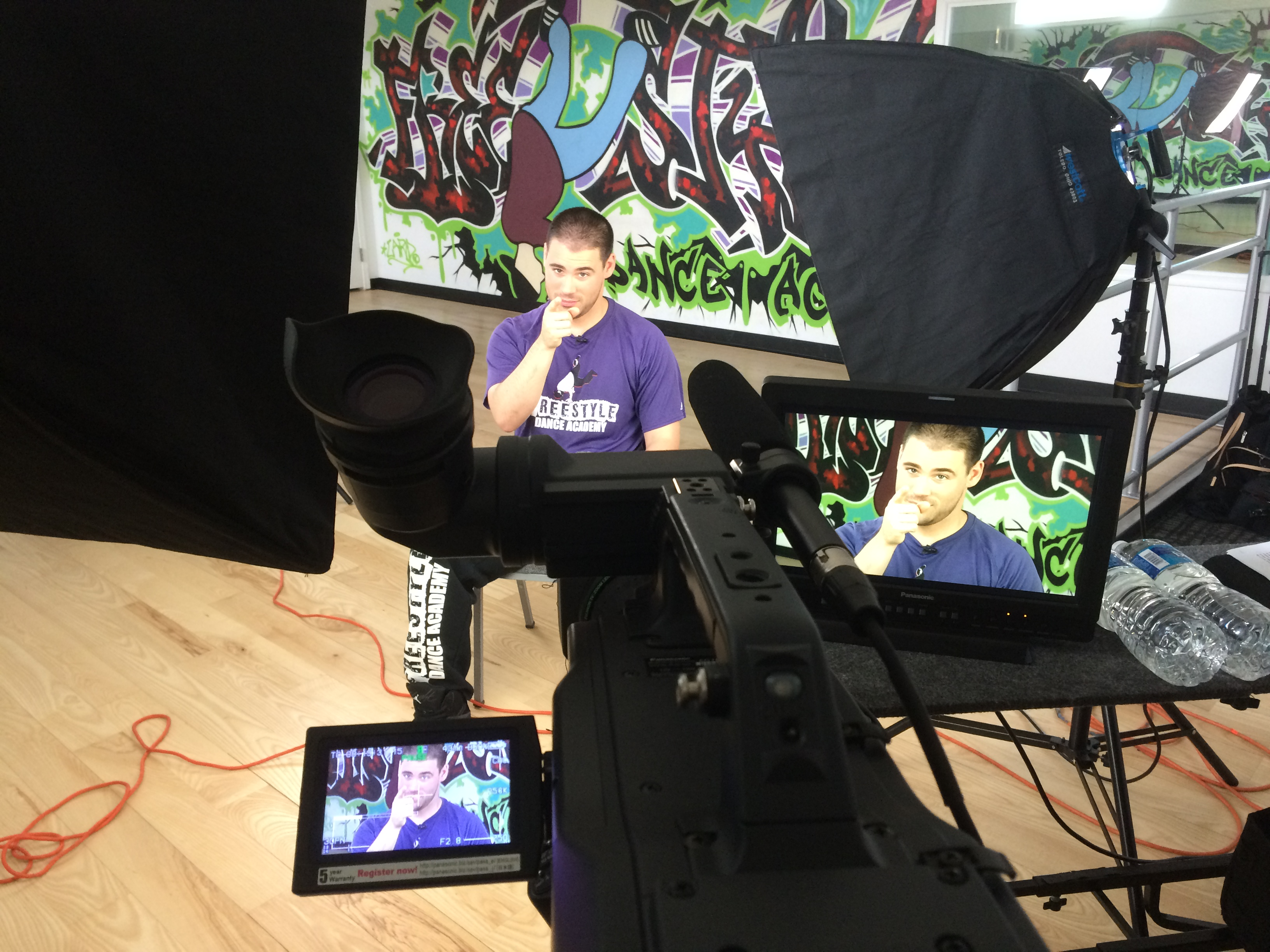 CanCan Productions filming at Freestyle Dance Academy.