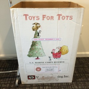 2015 Toys for Tots Bin at Freestyle Dance Academy
