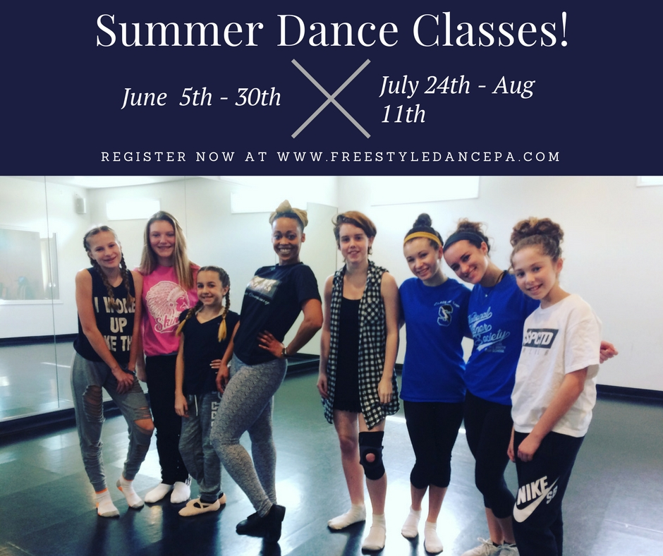Freestyle Dance Academy, Summer, Dance, Dancer, Dance Class, Dance Studio, Bucks County, Warrington, Chalfont, Doylestown, Lansdale, Philadelphia, Best of Bucks, hip-hop, jazz, tap, ballet, breakdance