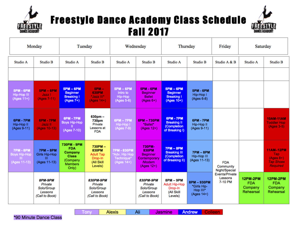 Fall 2017, dance, dance class, dance studio, dance lessons, dancer, Freestyle Dance Academy, hip-hop, breakdance, jazz, tap, ballet, modern, Best of Bucks, Warrington, Chalfont, Doylestown, Lansdale
