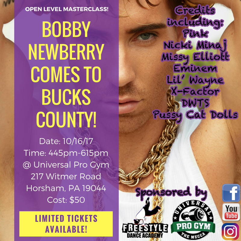 Bobby Newberry, dance, dancer, dance class, masterclass, dance studio, Bucks County, Pennsylvania, Philadelphia